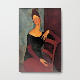 Amedeo Modigliani - Portrait of the Artist's Wife Metal Print