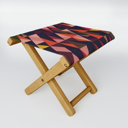 Vintage vibes_in warm hues Folding Stool