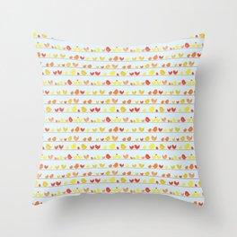 Some Little Birds Throw Pillow