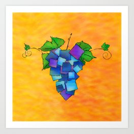 Jamurissa - square grapes Art Print