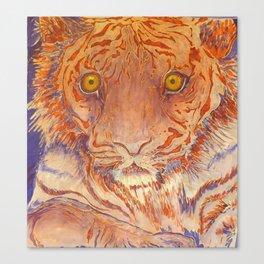 Braveheart - Handpainted Silk Tigercup Canvas Print