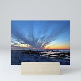 Cloud Streaks at Sunset Mini Art Print