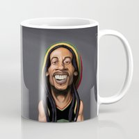 marley Mugs featuring Celebrity Sunday - Robert Nesta Marley by rob art | illustration