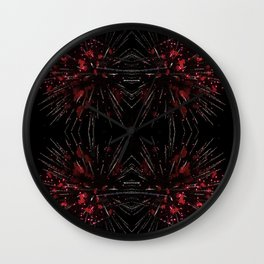 Blooming Red | Fireworks Wall Clock