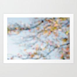 Autumn Bokeh Art Print