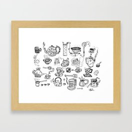 All of the Cups of Tea and Things in My Head Framed Art Print