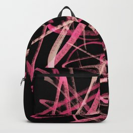 Intense Cerise Pink Twisting Line Abstract Backpack