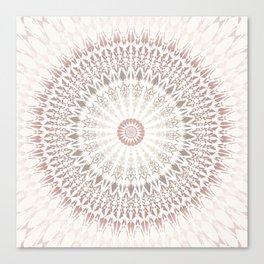 Cream Rose Mandala Canvas Print
