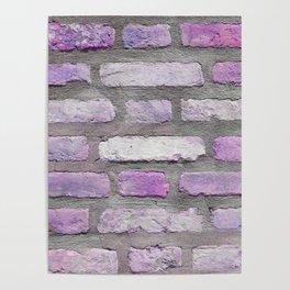 Venetian Bricks in Pink and Lavender Poster