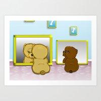 Snooze Poop Dog cards Art Print