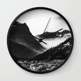 Mountain Valley Glacier National Park Wall Clock