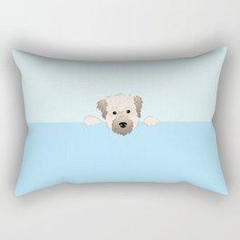 peeking pup. Rectangular Pillow