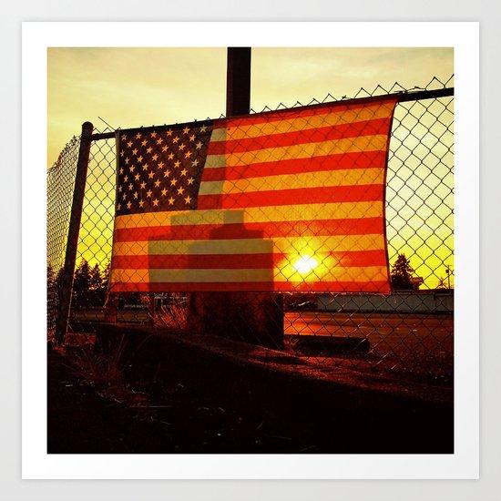 America's sunset Art Print