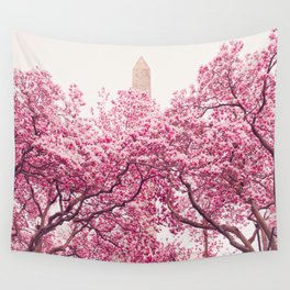 New York City - Central Park - Cherry Blossoms Wall Tapestry