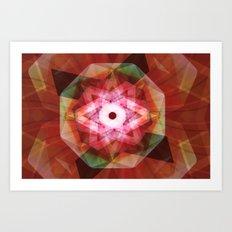 LT5-JUSTSTARGAZING-RED Art Print