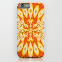 Citrus Lemon Slices and Orange Juice Floral Pattern iPhone Case
