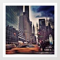 New York Streets 1 Art Print