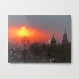 Foggy Portland Sunset (5) Metal Print