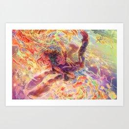 BNHA: Uraraka Ochaco + Midoriya Art Print
