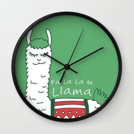 Holiday Llama Wall Clock