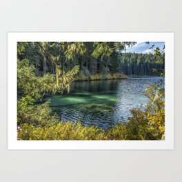 Emerald Tones of Clear Lake Art Print