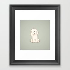 Toy Poodle Dog Illustration Framed Art Print