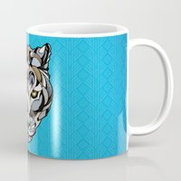 leopard Mugs featuring Leopard by Andreas Preis