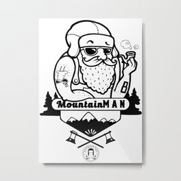 Mountain man Metal Print