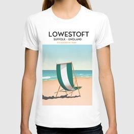 Lowestoft Suffolk vintage style travel poster T-shirt