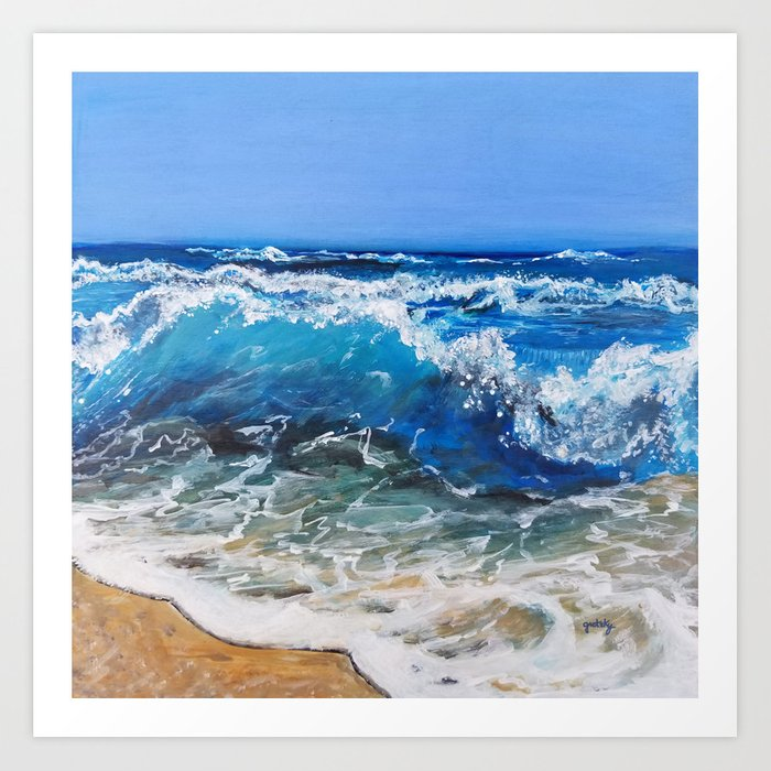 Rough Sea Art Print