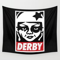 obey Wall Tapestries featuring Obey Derby by Team Rapscallion