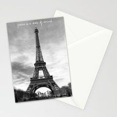 Paris is not a city, it's a state of mind Stationery Cards