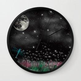 Night Critters Wall Clock