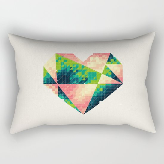 A heart is made of bits and pieces II Rectangular Pillow