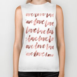 Rose Gold Love Biker Tank