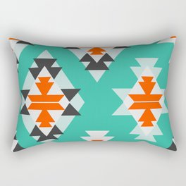 Triangles and diamonds in mint Rectangular Pillow