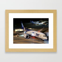 All Nippon Airways - ANA Boeing 787-8 Dreamliner Framed Art Print