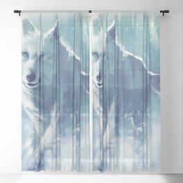 white wolf Sheer Curtain