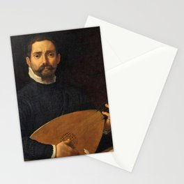 Annibale Carracci - Portrait of the lute player Giulio Mascheroni Stationery Cards
