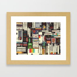 Cassettes, VHS & Games Framed Art Print