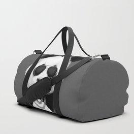 Panda in Black Duffle Bag
