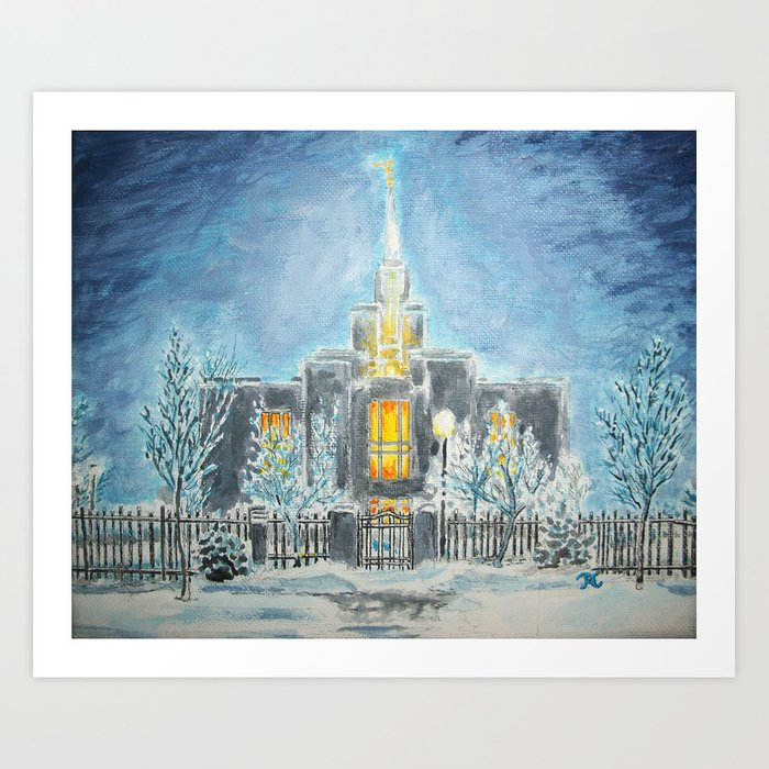 ccb262e16 Calgary Canada LDS Temple Art Print by bekablo