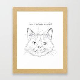 ceci n'est pas un chat Framed Art Print