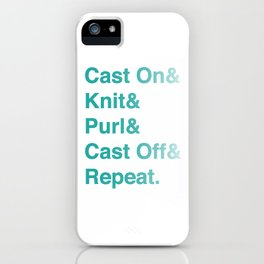 Knitting - Helvetica Ampersand Style iPhone Case