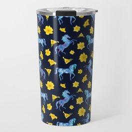 Precious blue horses Travel Mug