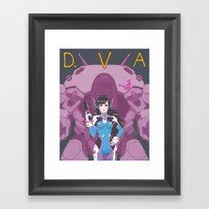 D.VA Over-Watch Framed Art Print