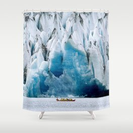 Ride to the Alaskan Glacier Shower Curtain