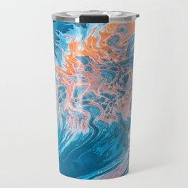 Blue Abstract Art Travel Mug