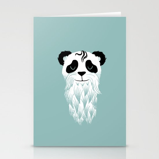 Panda Beard Stationery Cards
