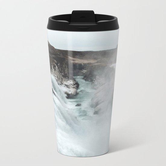 Gullfoss - Landscape Photography Metal Travel Mug